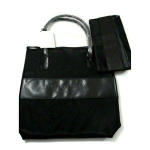 Burberry Cosmetic Tote Embossed Nylon and Mesh Set